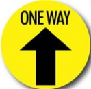 One Way Arrow - Floor Sticker (12 Pack)