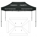 10' x 15' HD Canopy and Frame - 4 Imprint Locations
